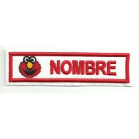 Patch embroidery ELMO TU NOMBRE 10cm x 2,4cm