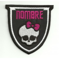 Patch embroidery MONSTER HIGH TU NOMBRE 7cm x 7,5cm