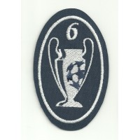 Embroidery patch 6 CUPS CHAMPIONS 5CM X 7,5cm