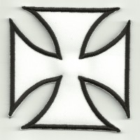 Embroidery Patch MALTESSE CROSS WHITE 8cm