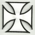 Parche bordado CRUZ DE MALTA BLANCA 8cm