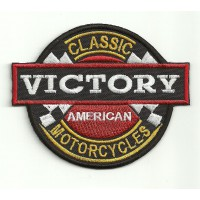 embroidery patch VICTORY MOTORCYCLES CLASIC 9cm x 7.5cm