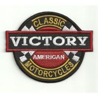 Parche bordado VICTORY MOTORCYCLES CLASIC 9cm X 7,5cm