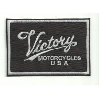 embroidery patch VICTORY MOTORCYCLES CUADRADO 9cm x 6cm