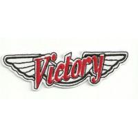 Parche bordado VICTORY MOTORCYCLES ALAS 26,2cm x 7,5cm
