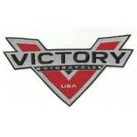 Parche bordado VICTORY MOTORCYCLES V 27cm x 15cm