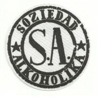 Parche textil SOZIEDAD ALKOHOLIKA BLANCO 8,5cm