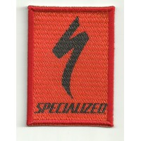 Parche bordado SPECIALIZED ROJO 5cm x 7cm