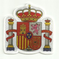 Textile and embroidery patch SPANISH OFFICIAL SHIELD 9,5cm x 9,5cm