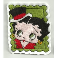 Emroidery patch BETTY BOOP STAMP 6,5 cm x 7,5 cm