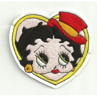 Emroidery patch BETTY BOOP HEART 7,5 cm x 7,5 cm