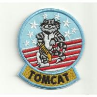 Parche bordado TOP GUN TOMCAT 6,5cm x 7,5cm