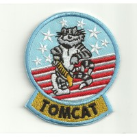Patch embroidery TOP GUN TOMCAT 6,5cm x 7,5cm