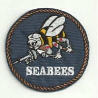 Patch embroidery TOP GUN SEABEES 8cm