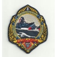 Patch embroidery TOP GUN VIGILANCE, CRUISERS, DSTROYERS, PACIFIC 7cm x 8.5cm