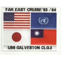 Parche bordado TOP GUN FAR EAST CRUISE 63-64 CLG-3 17.5cm x 14cm