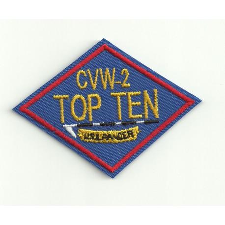 Parche bordado TOP GUN CVW-2 TOP TEN 8cm x 5.5cm