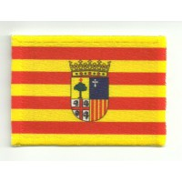 Patch textile and embroidery FLAG ARAGON 4CM X 3CM