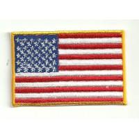 Parche bandera USA BORDE EXTERIOR AMARILLO 4cm x 3cm