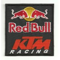 Parche bordado RED BULL KTM 8cm x 8,5cm