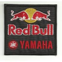 Parche bordado RED BULL YAMAHA 8cm x 7,5cm