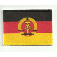 Patch textile and embroidery FLAG REPUBLICA DEMOCRATICA GERMANY 4cm x 3cm