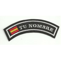 Embroidered Patch WITH YOUR NAME UP FLAG 5,5cm x 2cm NAMETAPE