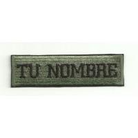 Parche bordado MILITAR CON TU NOMBRE 14cm X 4,2cm NAMETAPE