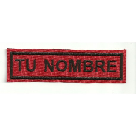 Embroidery Patch RED / BLACK YOUR NAME 5cm x 1,2cm NAMETAPE