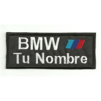 Embroidery Patch BMW MOTORSPORT CON TU NOMBRE 5cm X 2cm