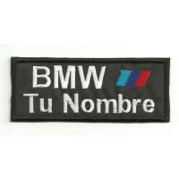 Parche bordado BMW MOTORSPORT CON TU NOMBRE 5cm X 2cm