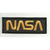 Patch embroidery NASA BLACK 9cm x 3,5cm