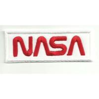 Patch embroidery NASA WHITE 9cm x 3,5cm