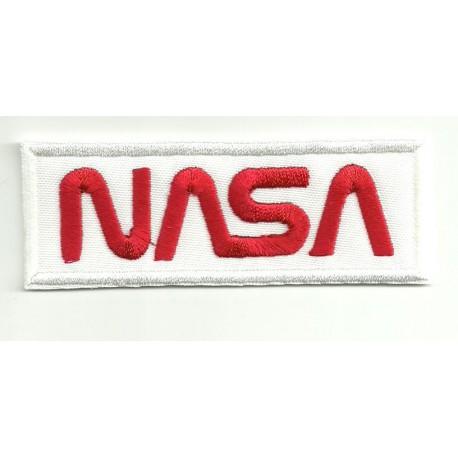 Parche bordado NASA BLANCO 13,5cm x 5,25cm