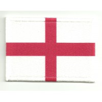 Patch embroidery and textile FLAG ST GEORGE´S CROSS 4CM x 3CM