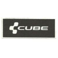 Parche textil CUBE 10cm x 4cm