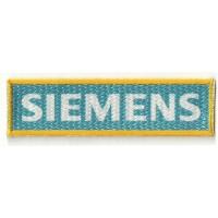 Parche textil y bordado SIEMENS 10cm x 3cm