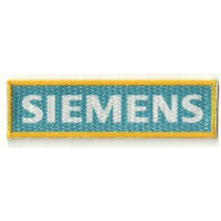 Textile patch textile and embroidrey SIEMENS 10cm x 3cm