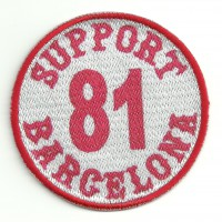 patch enbroidery and textile SUPORT 81 BARCELONA BLANCO 7,5cm x 7,5cm
