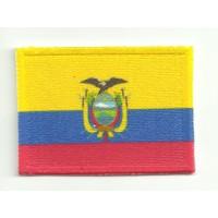 Parche textil y bordado bandera ECUADOR 4cm x 3cm