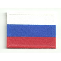 Patch textile and embroidery FLAG RUSSIA 4cm x 3cm