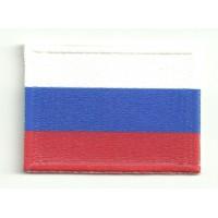 Parche textil y bordado BANDERA RUSIA 7cm x 5cm