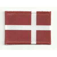 Patch textile and embroidery FLAG DENMARK 4cm x 3cm