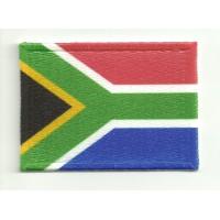 Parche bordado y textil BANDERA SUDAFRICA 4cm x 3cm