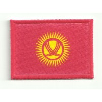 Patch textile and embroidery FLAG KYRGYZTAN 7CM x 5CM