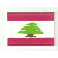 Patch textile and embroidery FLAG LEBANON 4CM x 3CM