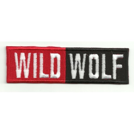 Embroidery patch WILD WOLF 10cm x 3cm