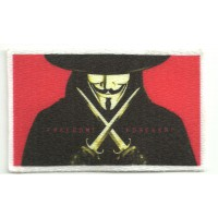 Textile patch V FOR VENDETTA BANDERA ANONYMUS 7,5cm x 4,5cm