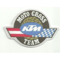 Textile patch KTM MOTO CROSS TEAM 9cm x 6cm