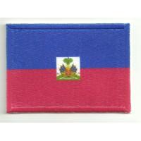 Parche bordado y textil HAITI 7cm x 5cm